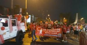 Alanya'da 30 Ağustos Fener Alayı Yürüyüşü