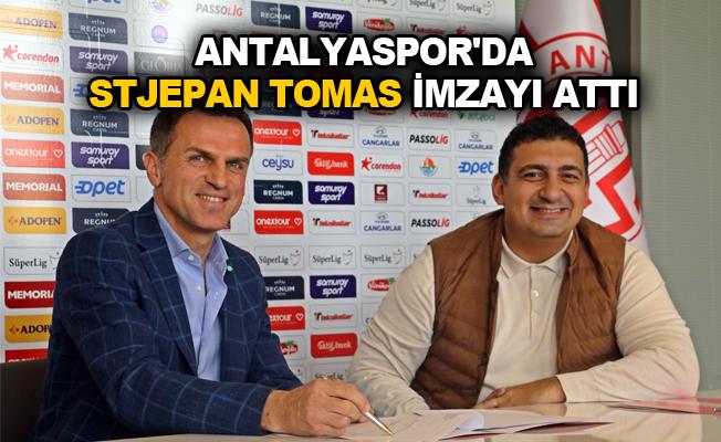 Antalyaspor'da Stjepan Tomas imzayı attı