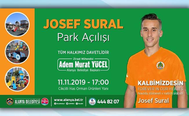Josef Sural parkı açılıyor