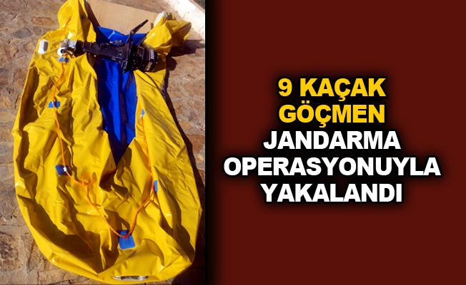 9 kaçak göçmen Jandarma operasyonuyla yakalandı