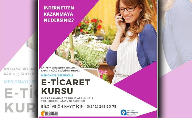 KİGGEM'de girişimci kadınlara e-ticaret kursu