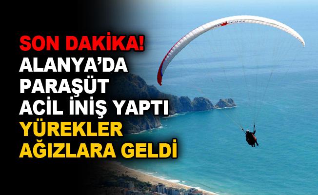 Son Dakika! Alanya'da paraşüt acil iniş yaptı
