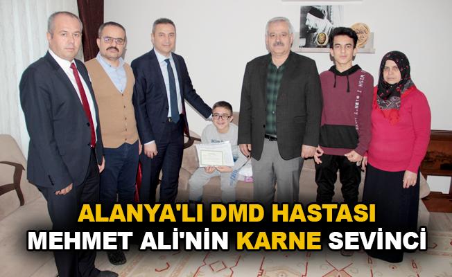 Alanya'lı DMD hastası Mehmet Ali'nin karne sevinci