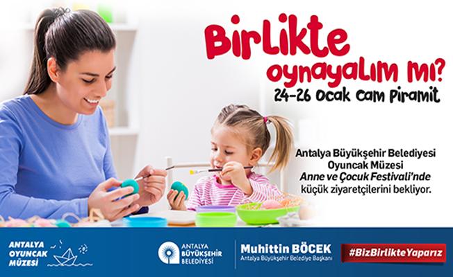 Büyükşehir Oyuncak Müzesi Antalya Anne Çocuk Festivali'nde