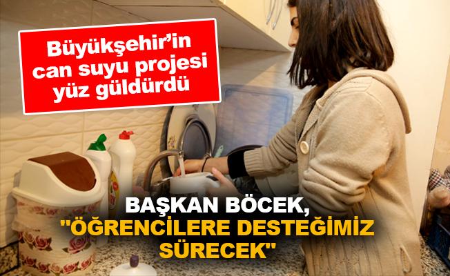 """Başkan Böcek, """"Öğrencilere desteğimiz sürecek"""""""