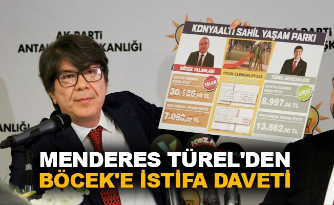 Menderes Türel'den Böcek'e istifa daveti