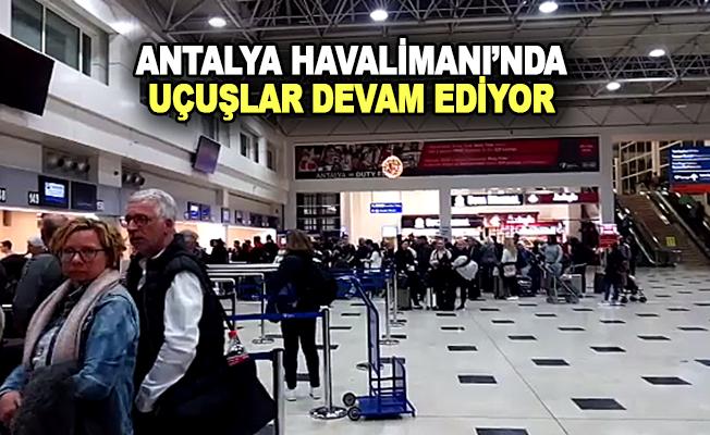 Antalya Havalimanı'na Turist Akını