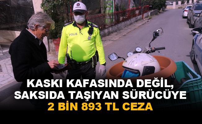 Polis uygulamasına takılan motosiklet sürücüsü 'Pes' dedirtti