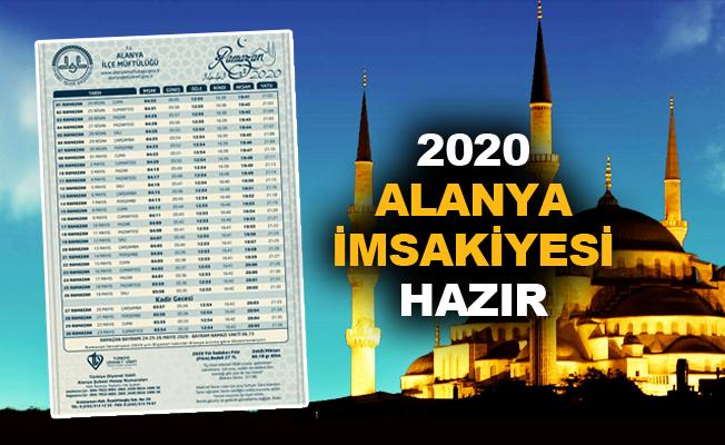2020 Alanya imsakiyesi hazır