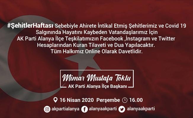 Alanya AK Parti'den Online Kur'an Tilaveti