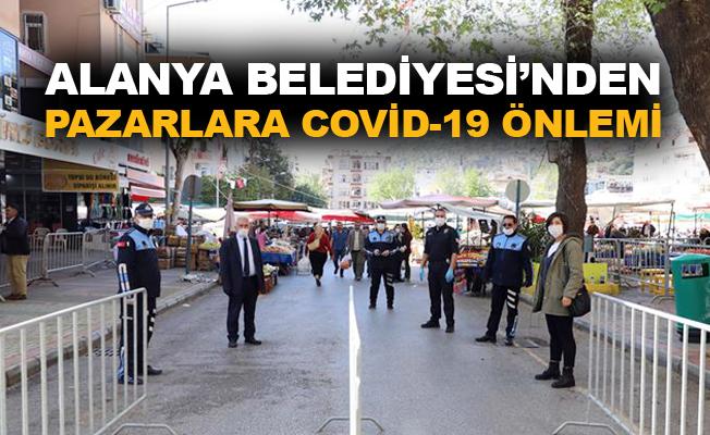 Alanya Belediyesi'nden pazarlara covid-19 önlemi