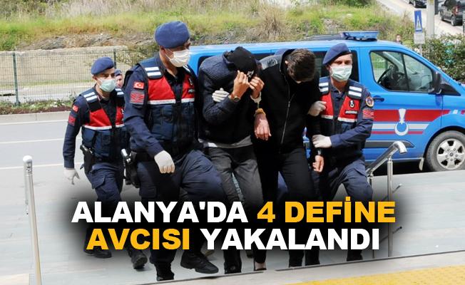 Alanya'da 4 define avcısı yakalandı