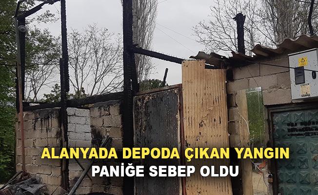 Alanya'da depo çıkan yangın paniğe neden oldu!