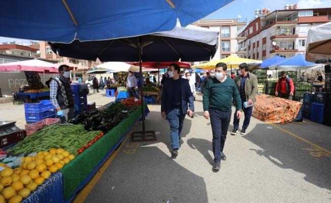 Başkan Tütüncü'den pazar yerlerinde denetim