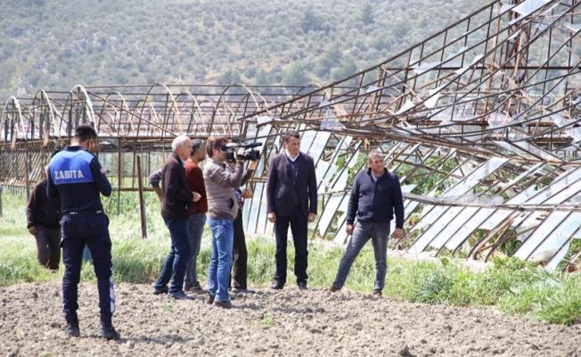 Çiftçilere hafta sonu felaketi yaşatan fırtınanın bilançosu belli oldu
