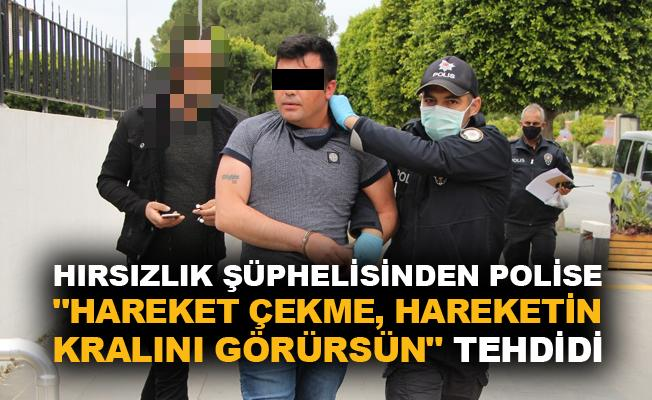 """Hırsızlık şüphelisinden polise """"Hareket çekme, hareketin kralını görürsün"""" tehdidi"""