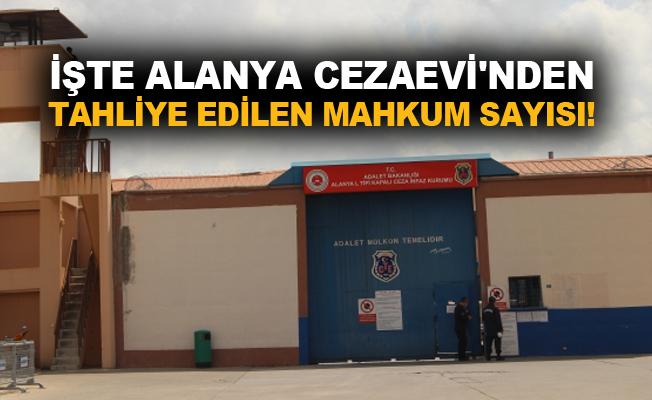 İşte Alanya Cezaevi'nde tahliye edilen mahkum sayısı!