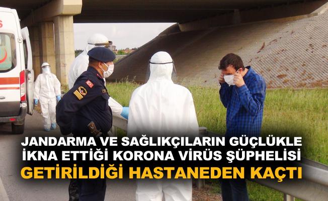 Korona virüs şüphelisi, getirildiği hastaneden kaçtı