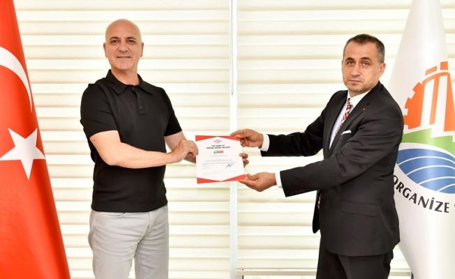 Antalya OSB 'Güvenli Hizmet Belgesi' alan ilk kuruluş oldu