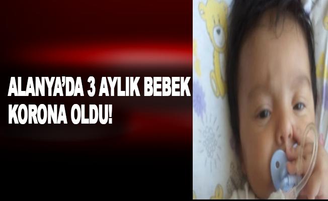 Alanya'da 3 aylık bebek korona oldu!