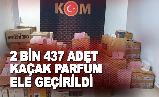 Alanya'da kamyonette 2 bin 437 adet kaçak parfüm ele geçirildi