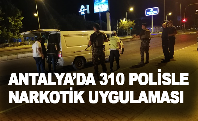 Antalya'da 310 polisle narkotik uygulaması