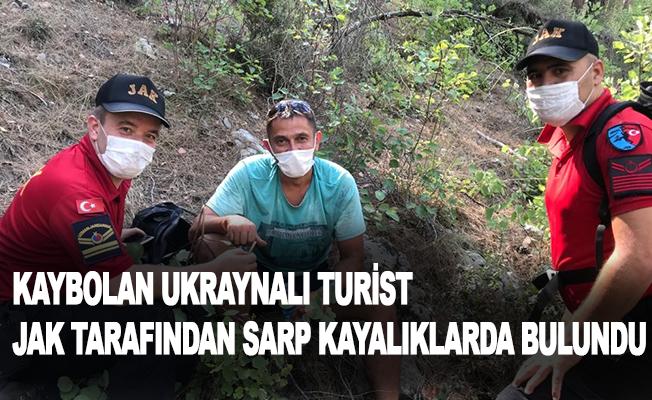 Kaybolan Ukraynalı turist, JAK tarafından sarp kayalıklarda bulundu
