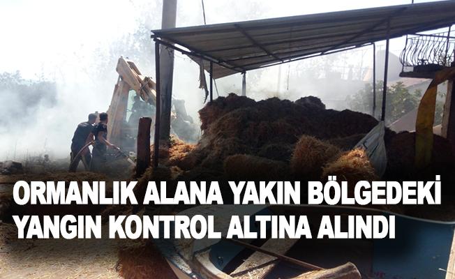 ormanlık alana yakın bölgedeki yangın kontrol altına alındı