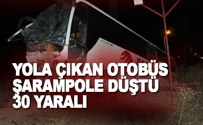 Yola çıkan otobüs şarampole düştü: 30 yaralı