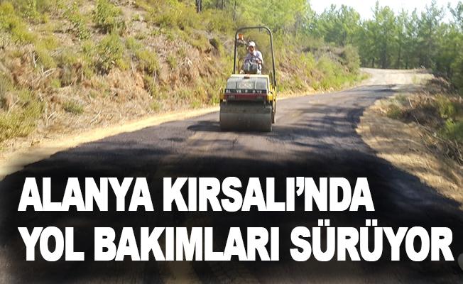 Alanya Kırsalı'nda yol bakımları sürüyor