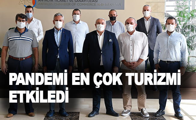 """ATSO Başkanı Çetin: """" Pandemi en çok turizmi etkiledi, şehirlere ve sektörlere özel destekler sağlanmalı"""""""