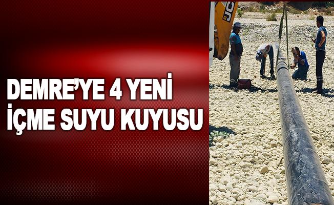 Demre'ye 4 yeni içme suyu kuyusu