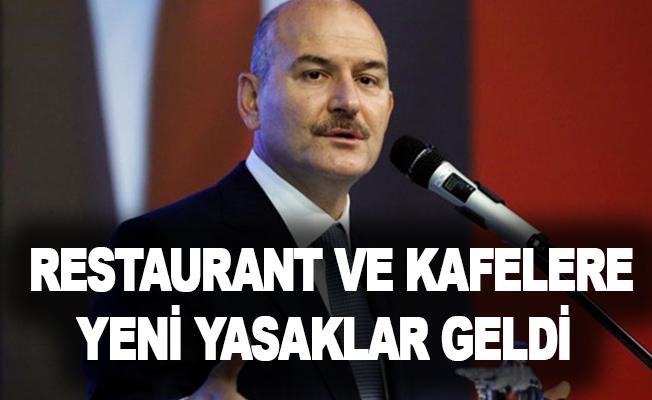 İşte restaurant ve kafeler için getirilen yeni yasaklar