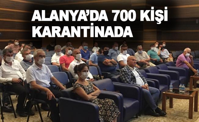 Kaymakam Ürkmezer: Alanya'da 700 kişi karantida!