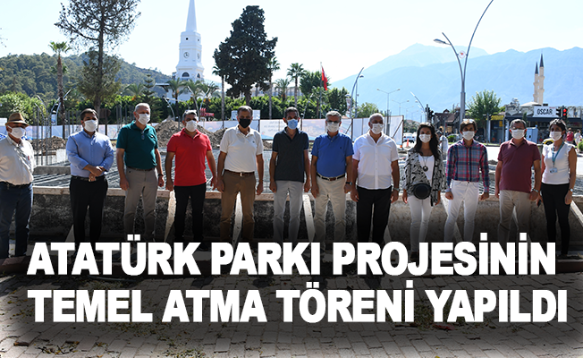 Kemer'de Atatürk Parkı projesinin temel atma töreni yapıldı