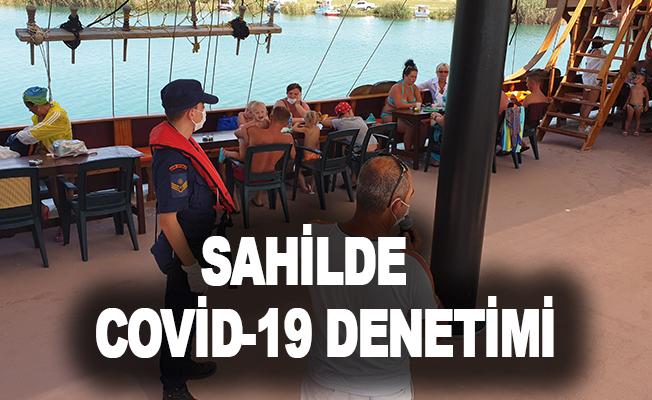 Sahilde Covid-19 denetimi