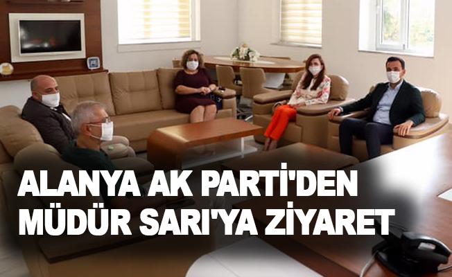 Alanya Ak Parti'den Müdür Sarı'ya ziyaret