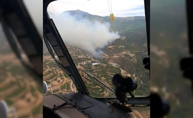 Anamur'da orman yangını! Alanya yolu kapatıldı