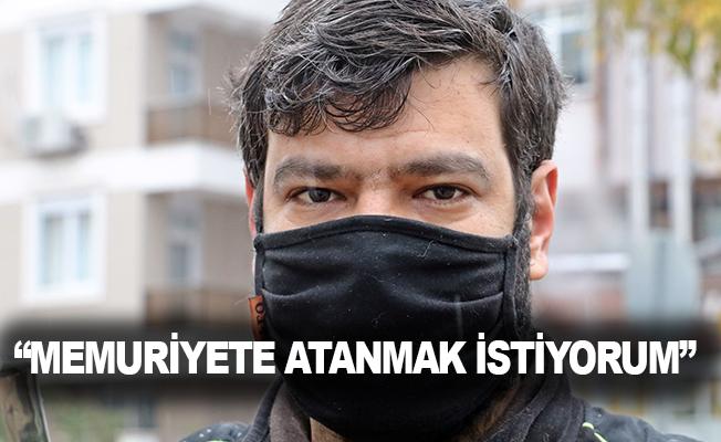 Çöp konteynerlerinden plastik toplayarak hazırlandığı KPSS'de Türkiye 25'incisi oldu