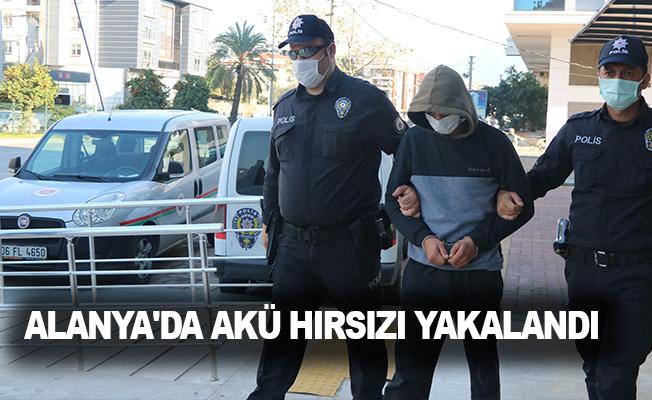 Alanya'da akü hırsızı yakalandı