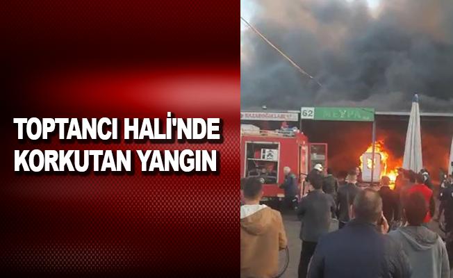 Antalya Toptancı Hali'nde korkutan yangın