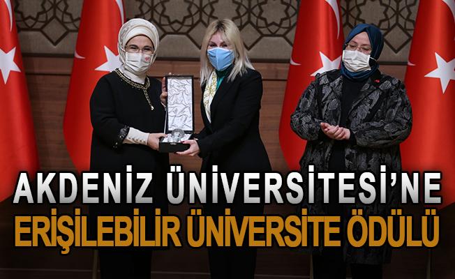 Akdeniz Üniversitesi'ne erişilebilir üniversite ödülü