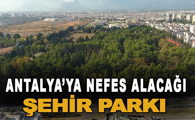 Antalya'ya nefes alacağı şehir parkı