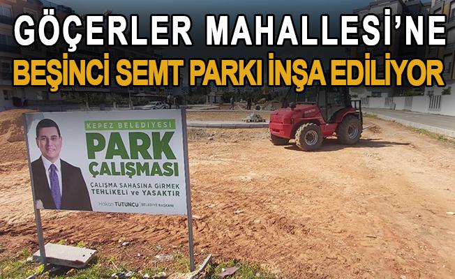 Göçerler Mahallesi'ne beşinci semt parkı inşa ediliyor