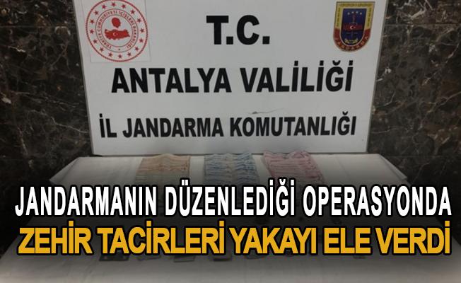 Jandarmanın düzenlediği operasyonda zehir tacirleri yakayı ele verdi