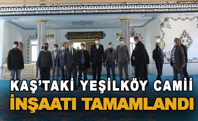 Kaş'taki Yeşilköy Camii inşaatı tamamlandı