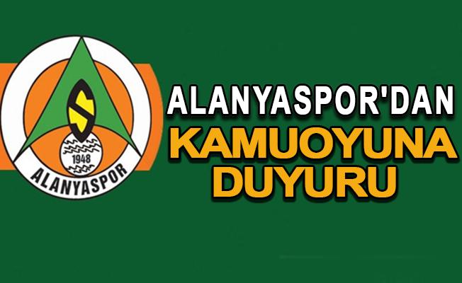 Alanyaspor'dan kamuoyuna duyuru