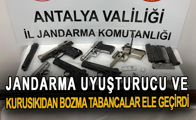 Jandarma, uyuşturucu ve kurusıkıdan bozma tabancalar ele geçirdi