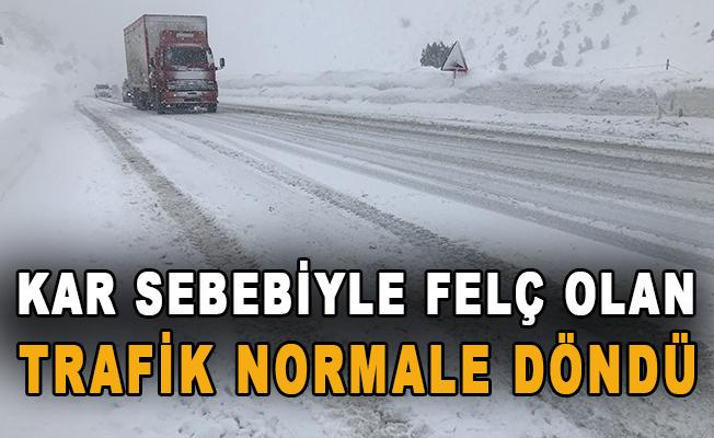 Kar sebebiyle felç olan trafik normale döndü