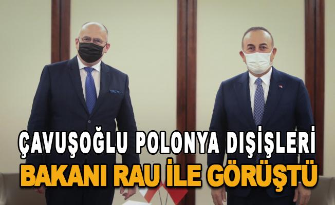 Polonya Dışişleri Bakanı Zbigniew Rau ile görüştü